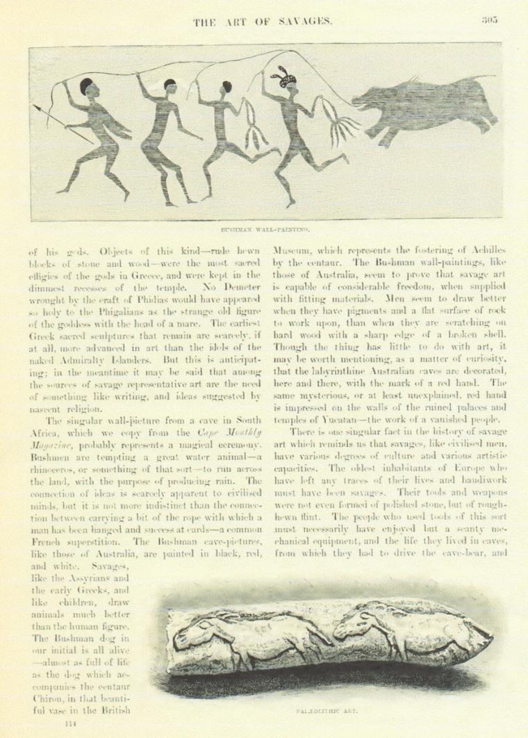 ブッシュマンの壁画(Bushman Wall-Painting)