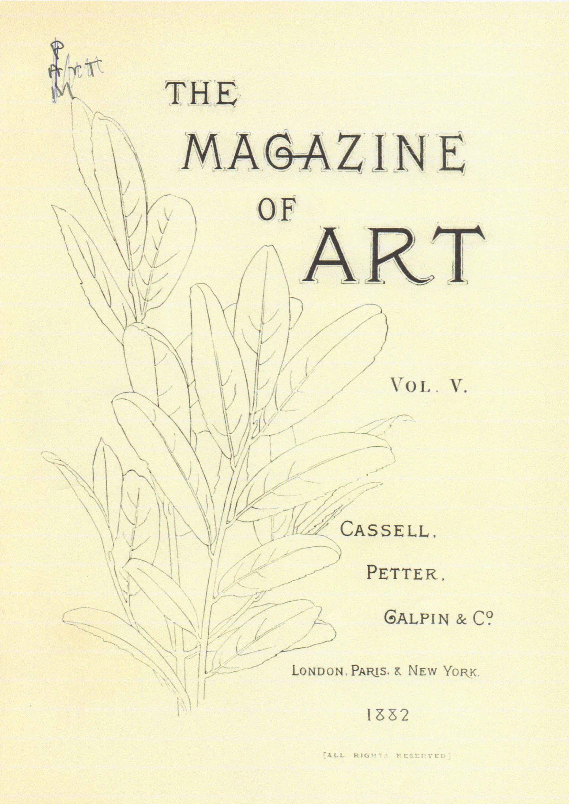 The Magazine of Art 1882年刊Vol.5の表紙