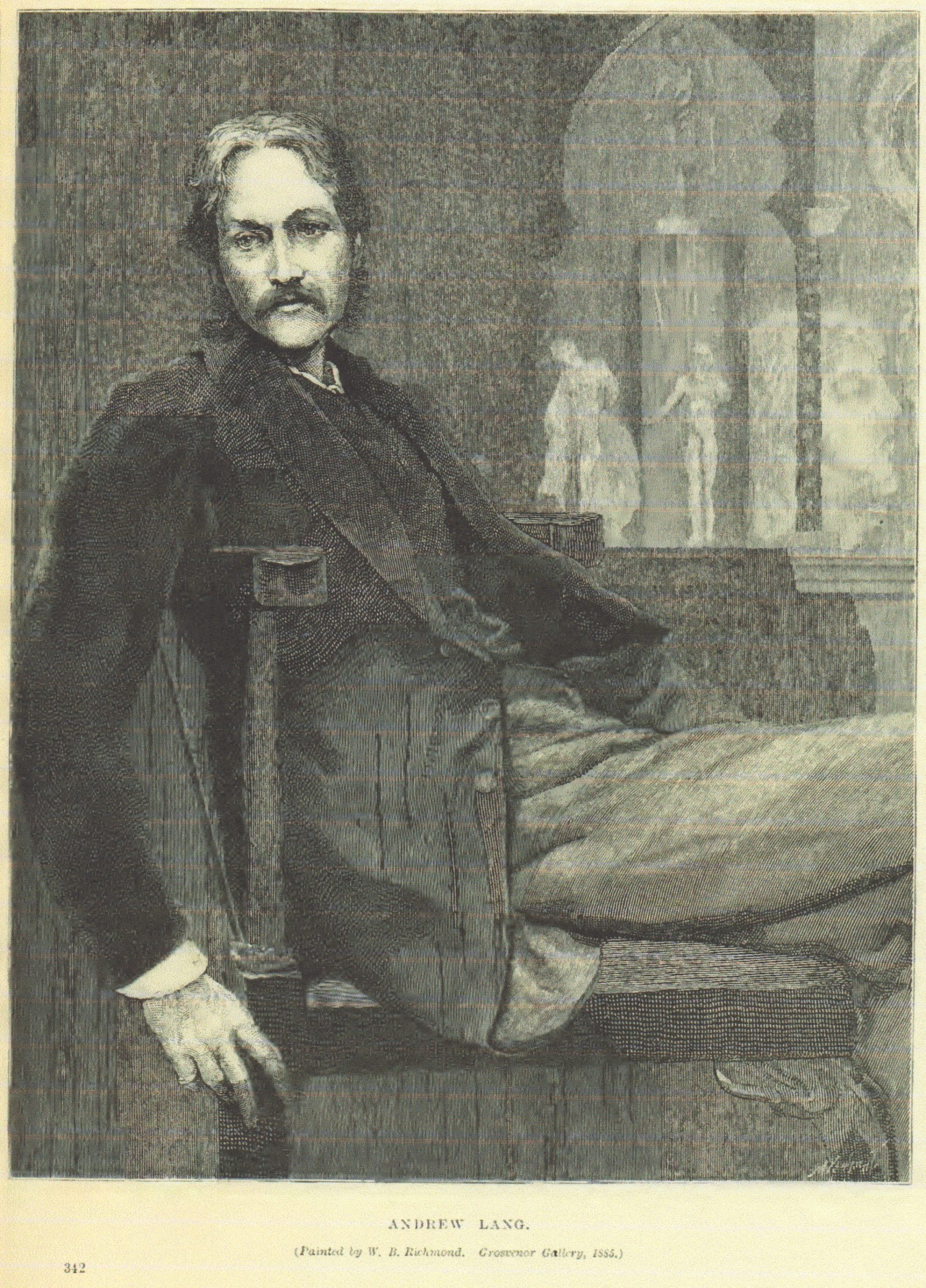 アンドリュー・ラング W.B.リッチモンド画 グロブナー・ギャラリー 1885